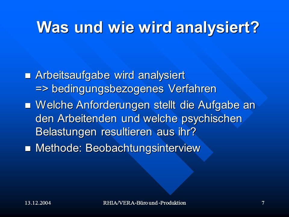 Was und wie wird analysiert