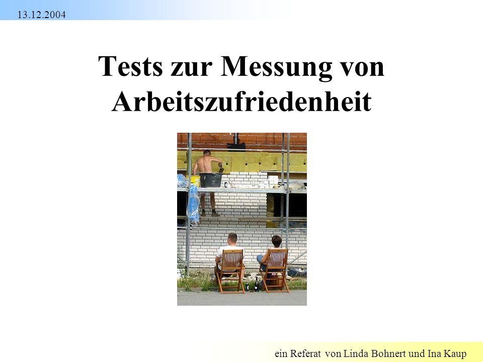 Tests zur Messung von Arbeitszufriedenheit