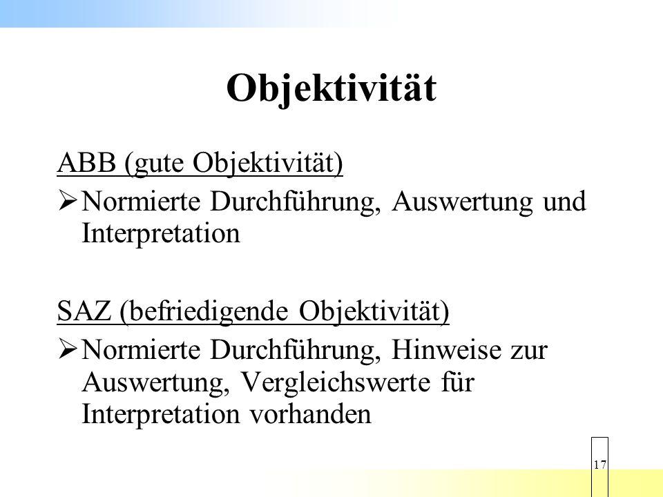 Objektivität ABB (gute Objektivität)