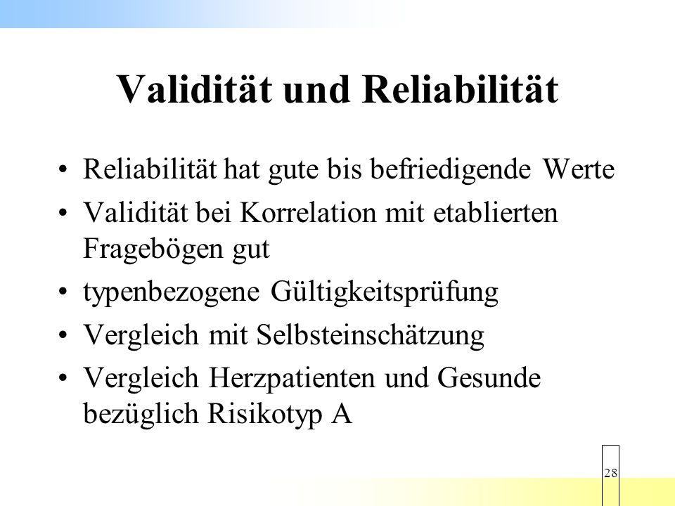 Validität und Reliabilität