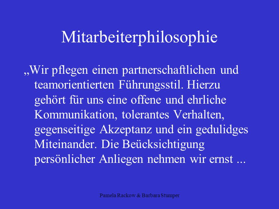 Mitarbeiterphilosophie