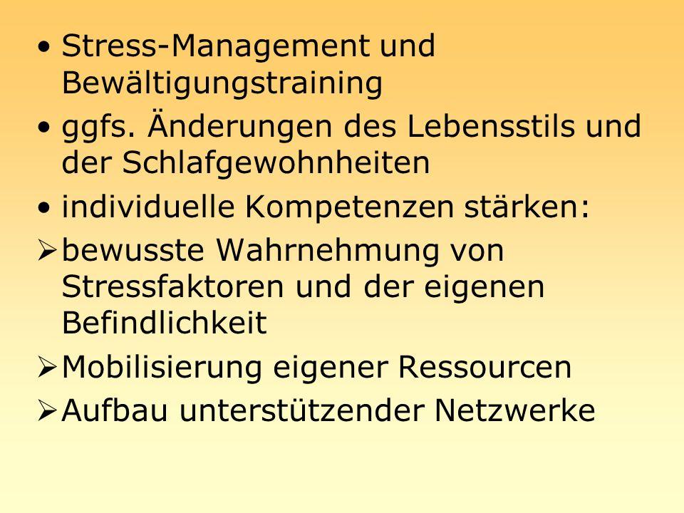 Stress-Management und Bewältigungstraining