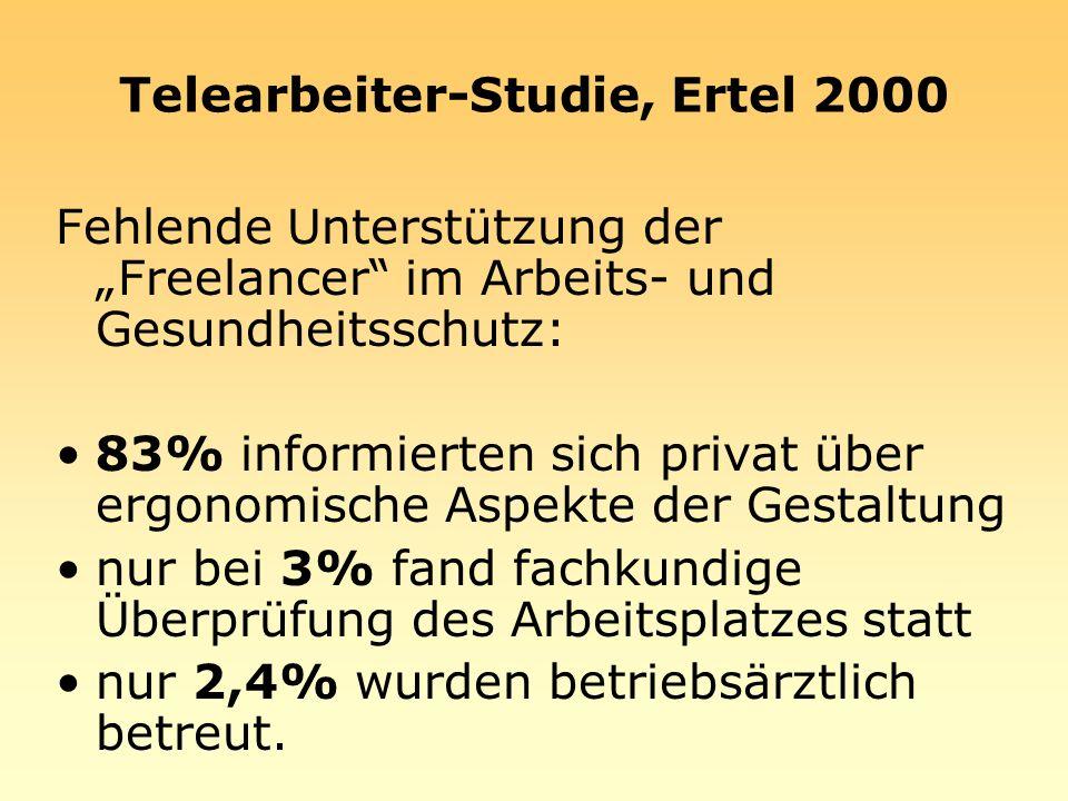 Telearbeiter-Studie, Ertel 2000