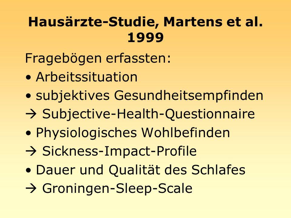 Hausärzte-Studie, Martens et al. 1999