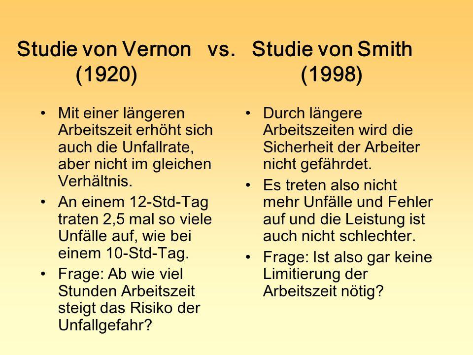 Studie von Vernon vs. Studie von Smith (1920) (1998)