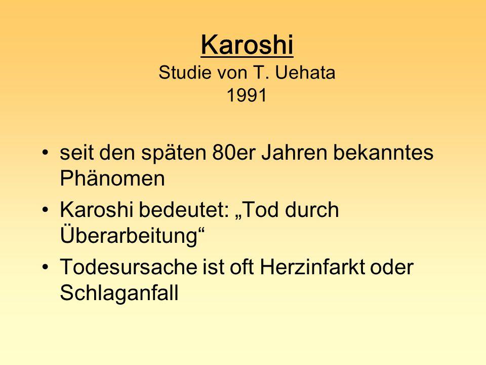 Karoshi Studie von T. Uehata 1991