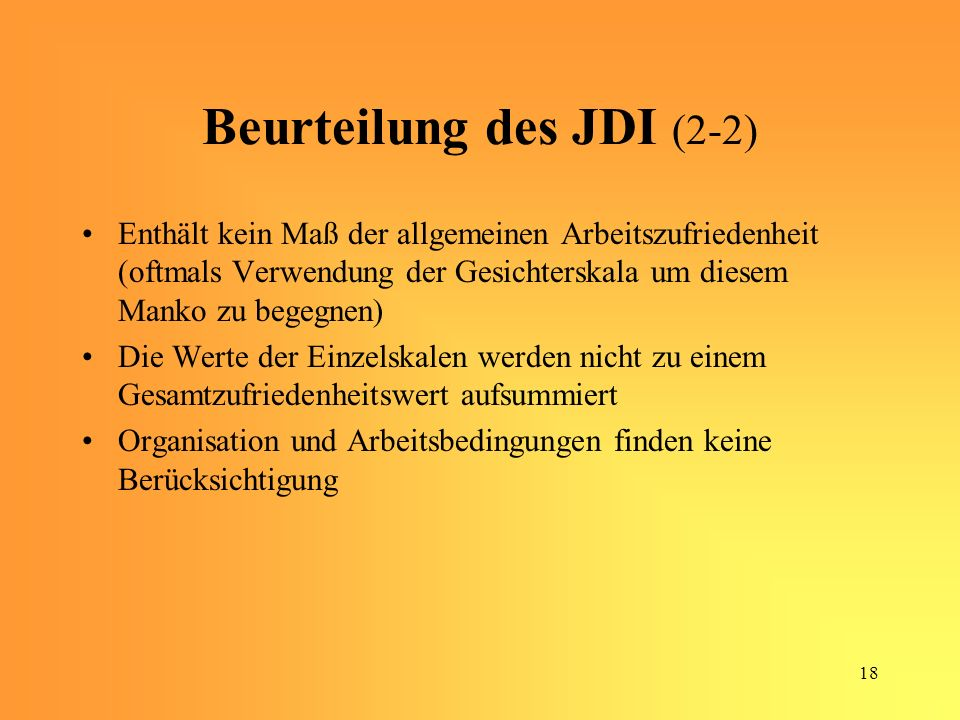Beurteilung des JDI (2-2)