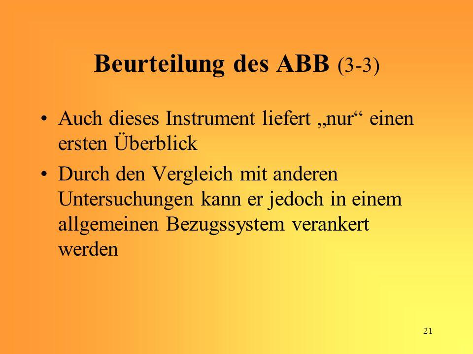 Beurteilung des ABB (3-3)