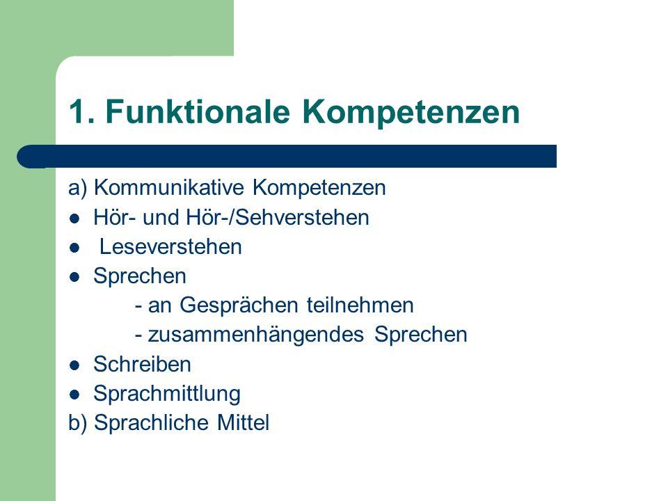 1. Funktionale Kompetenzen