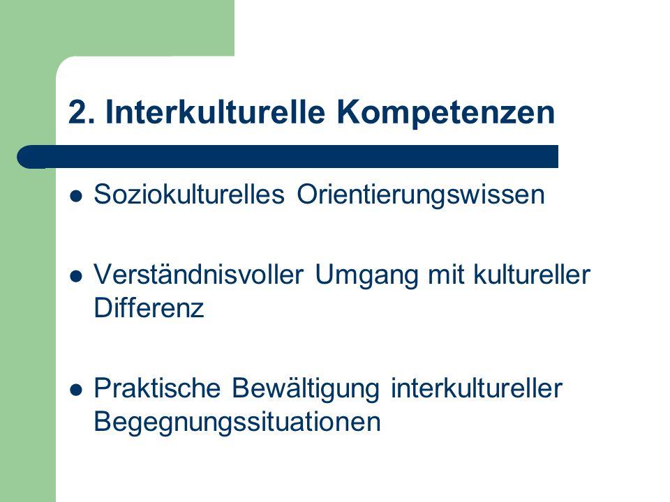 2. Interkulturelle Kompetenzen