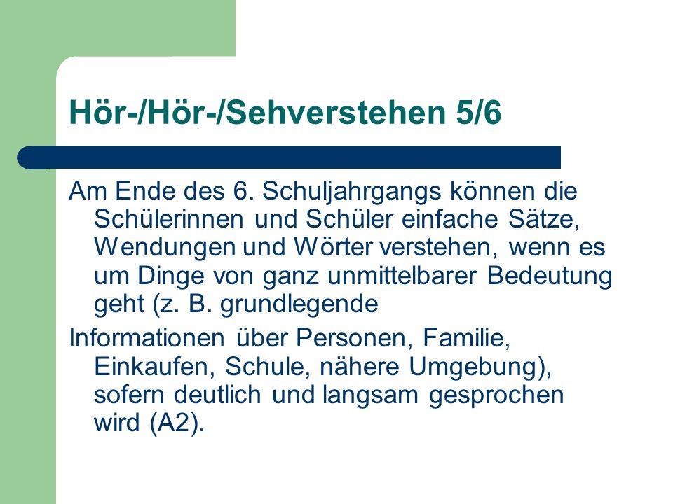 Hör-/Hör-/Sehverstehen 5/6