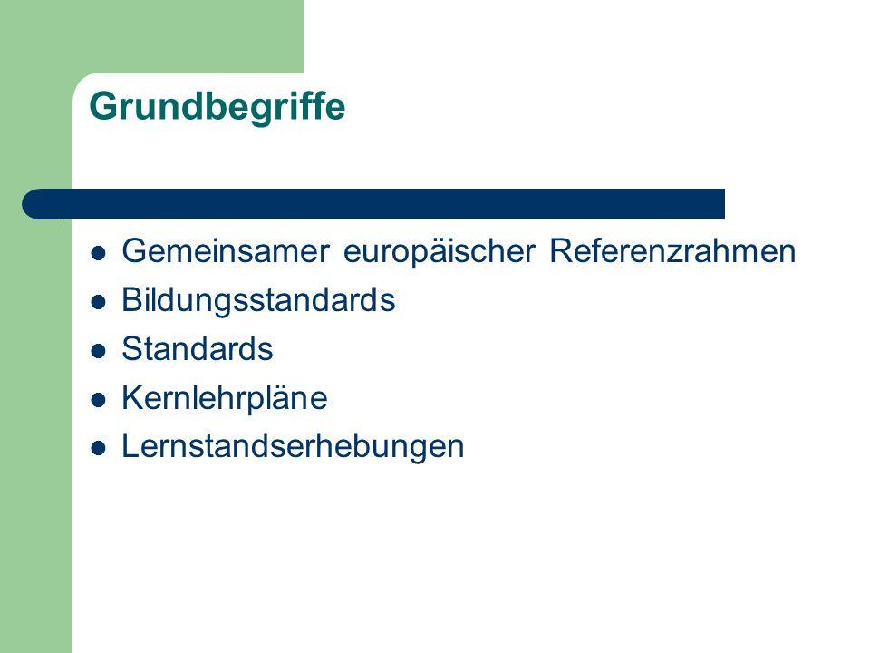 Grundbegriffe Gemeinsamer europäischer Referenzrahmen