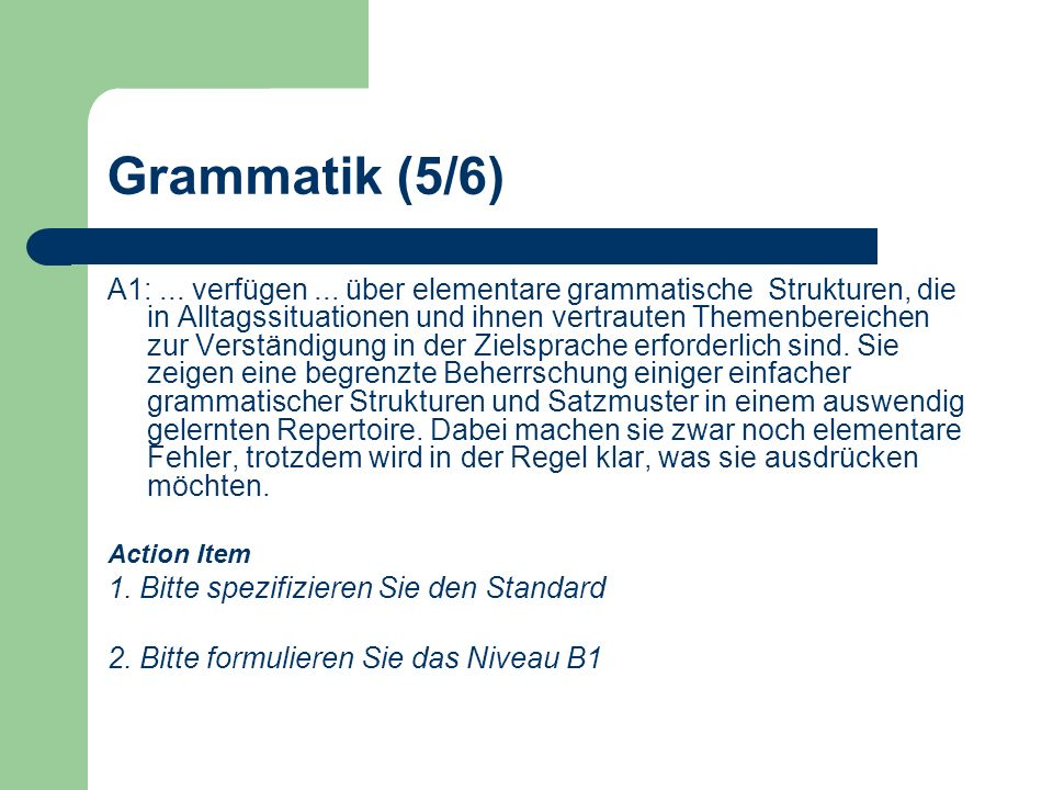 Grammatik (5/6)