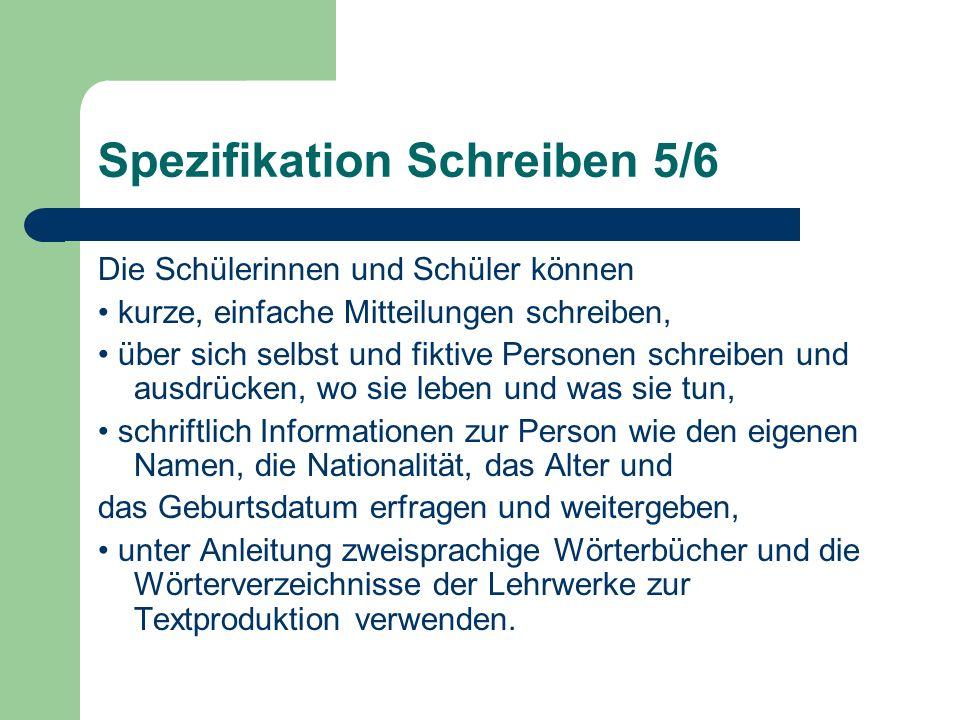 Spezifikation Schreiben 5/6