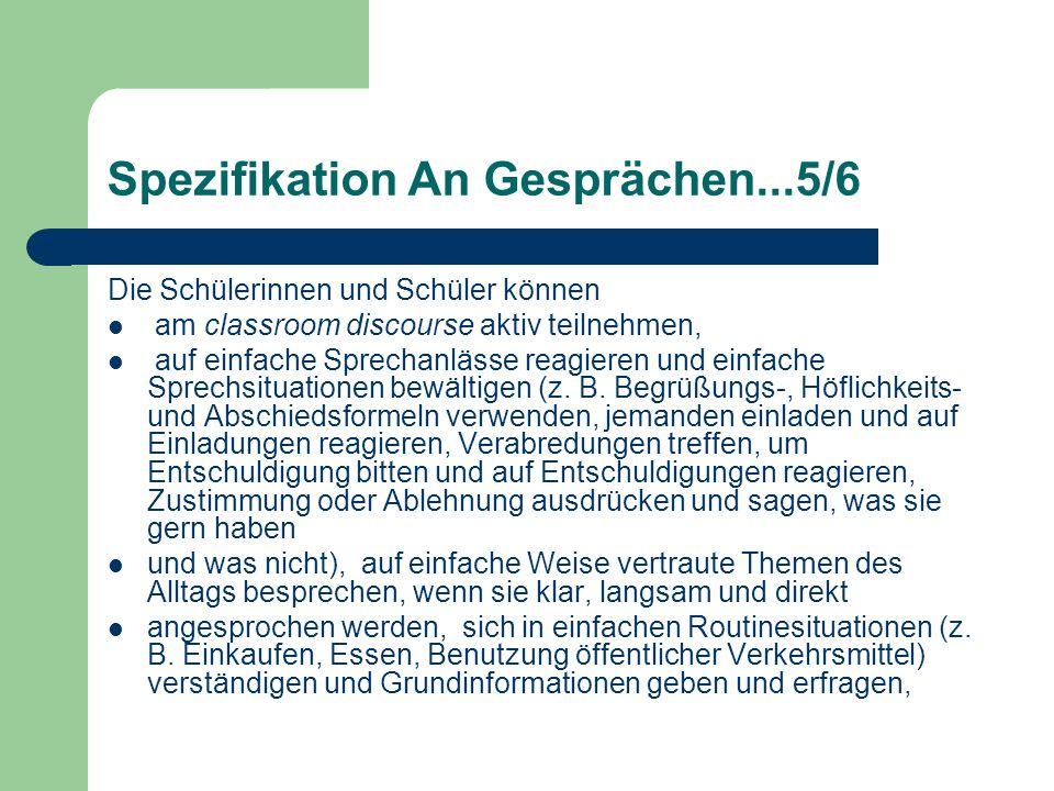 Spezifikation An Gesprächen...5/6
