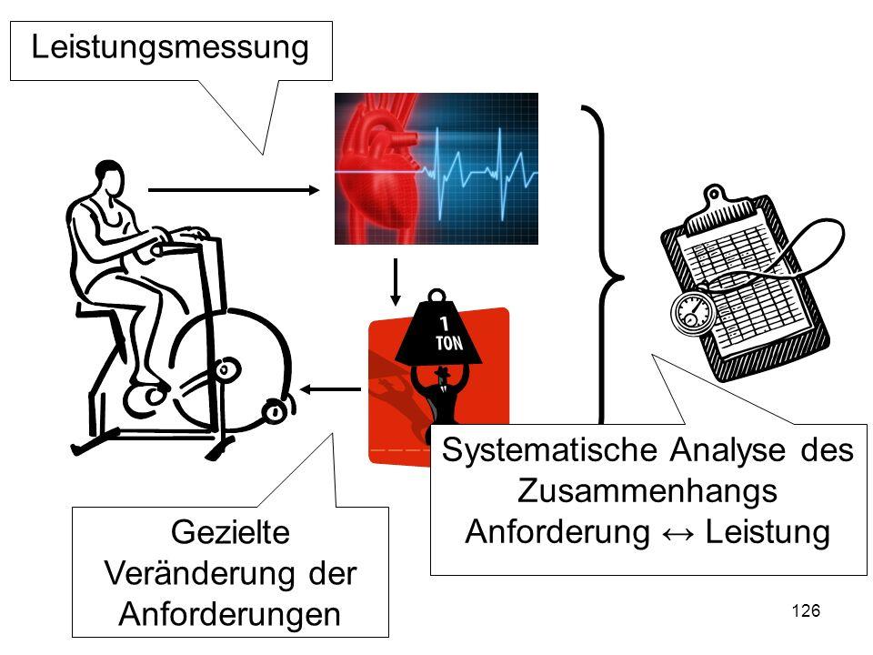 Systematische Analyse des Zusammenhangs Anforderung ↔ Leistung