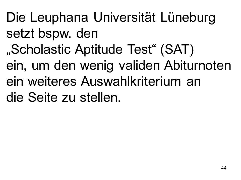 Die Leuphana Universität Lüneburg setzt bspw