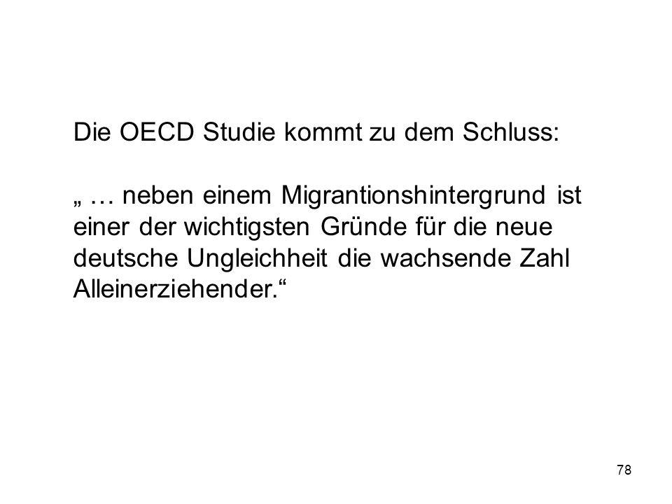 Die OECD Studie kommt zu dem Schluss: