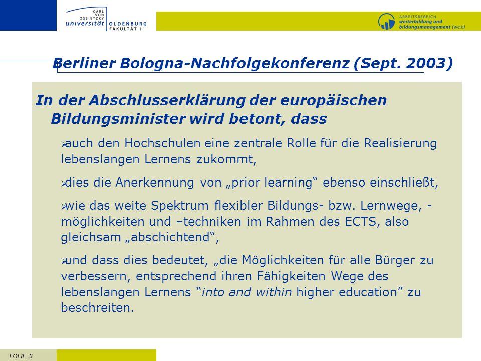 Berliner Bologna-Nachfolgekonferenz (Sept. 2003)