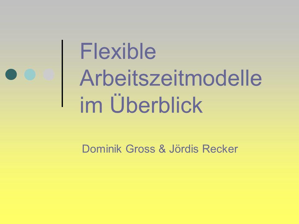 Flexible Arbeitszeitmodelle im Überblick