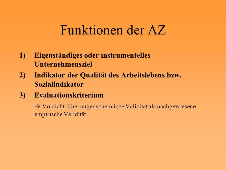 Funktionen der AZ Eigenständiges oder instrumentelles Unternehmensziel