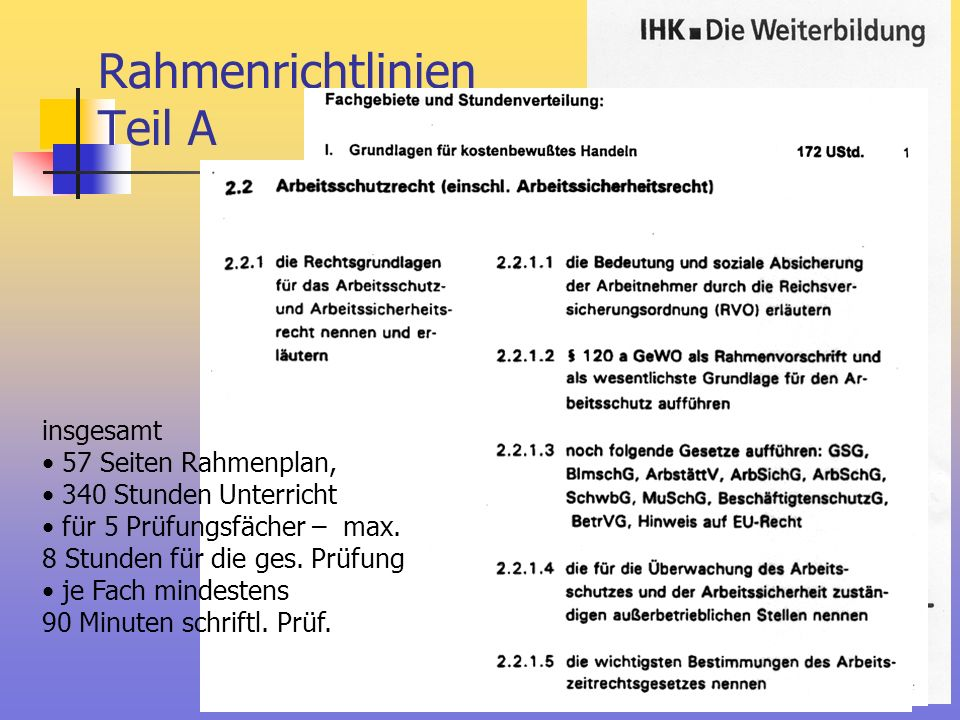 Rahmenrichtlinien Teil A