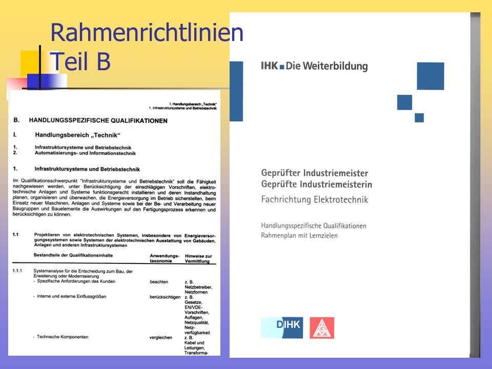 Rahmenrichtlinien Teil B