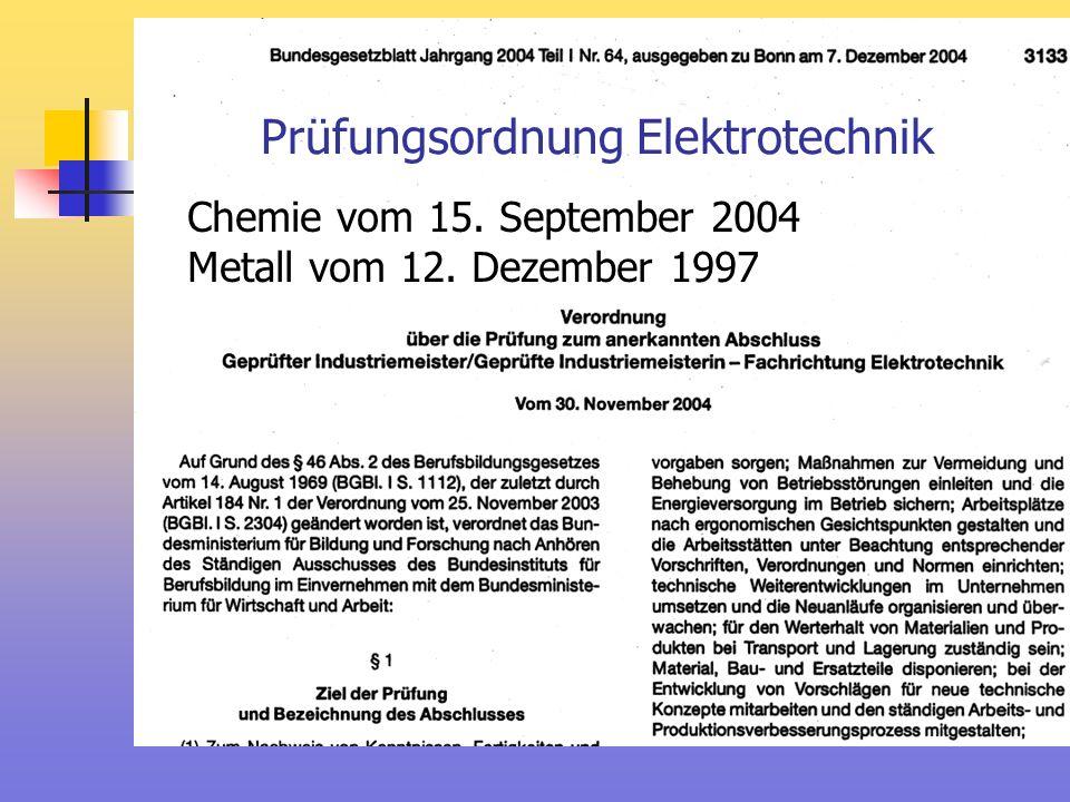 Prüfungsordnung Elektrotechnik