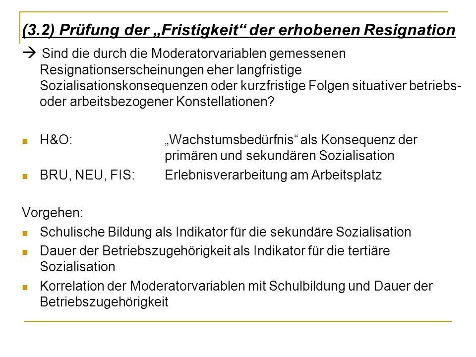 """(3.2) Prüfung der """"Fristigkeit der erhobenen Resignation"""