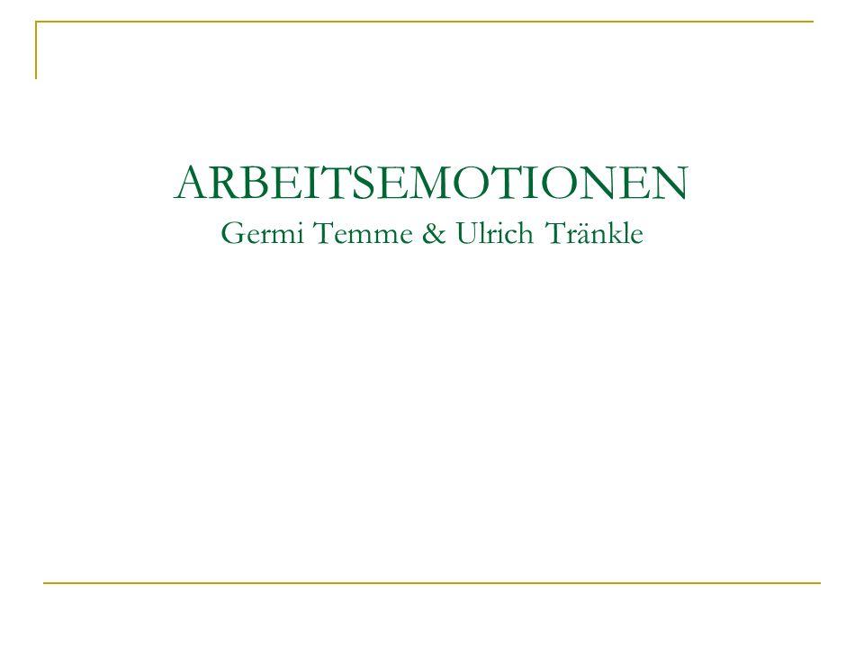 ARBEITSEMOTIONEN Germi Temme & Ulrich Tränkle
