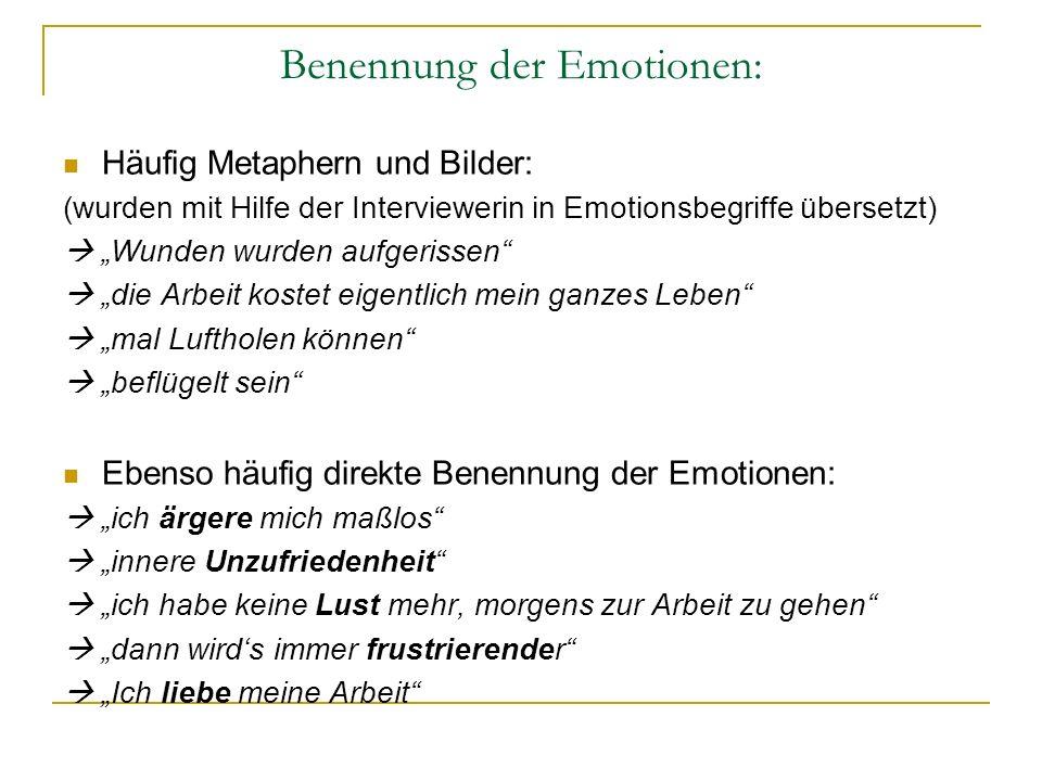 Benennung der Emotionen: