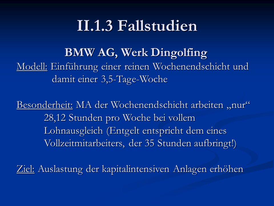 II.1.3 Fallstudien BMW AG, Werk Dingolfing