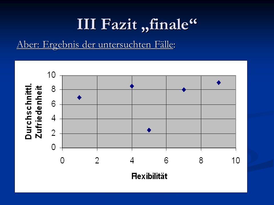 """III Fazit """"finale Aber: Ergebnis der untersuchten Fälle:"""