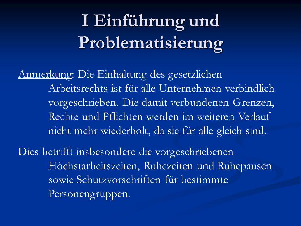 I Einführung und Problematisierung