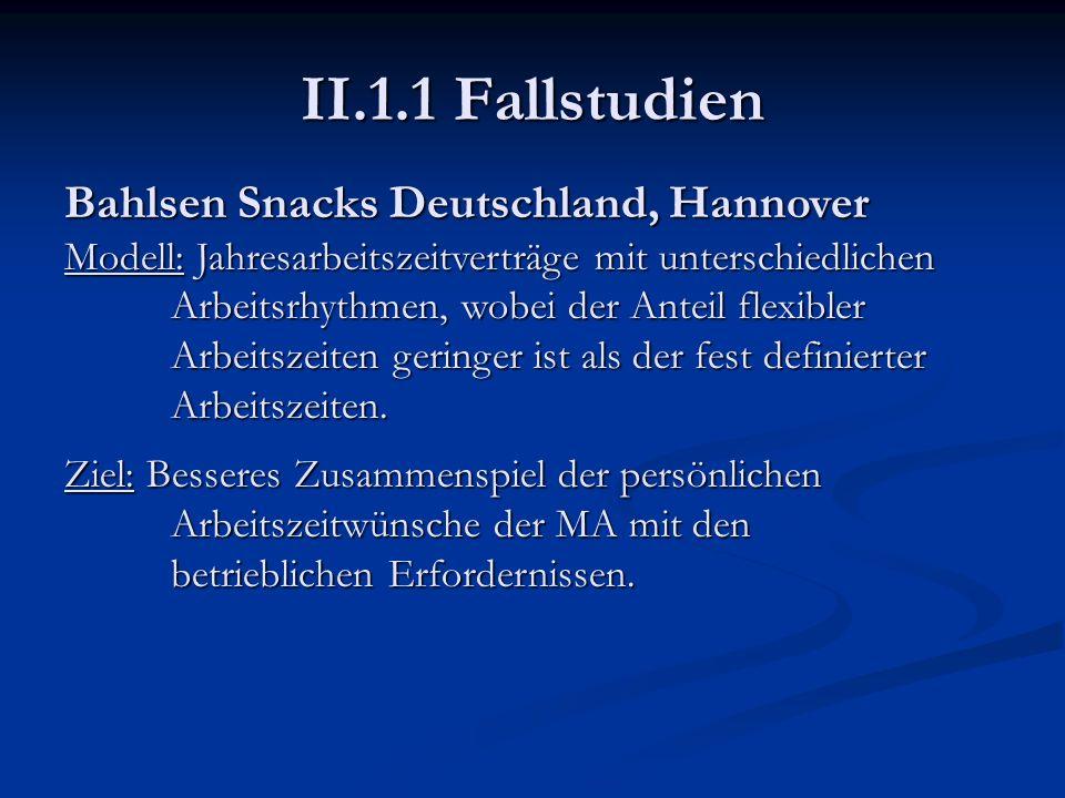 II.1.1 Fallstudien Bahlsen Snacks Deutschland, Hannover