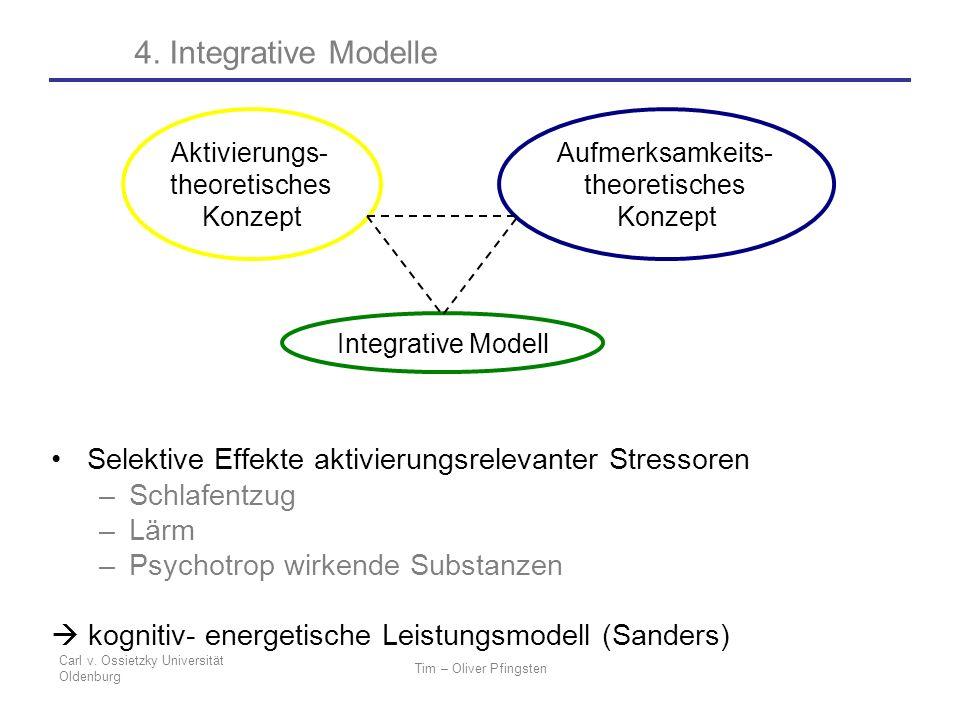 4. Integrative Modelle Aktivierungs- theoretisches. Konzept. Aufmerksamkeits- theoretisches. Konzept.