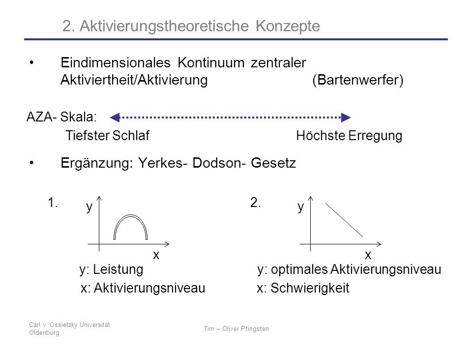 2. Aktivierungstheoretische Konzepte