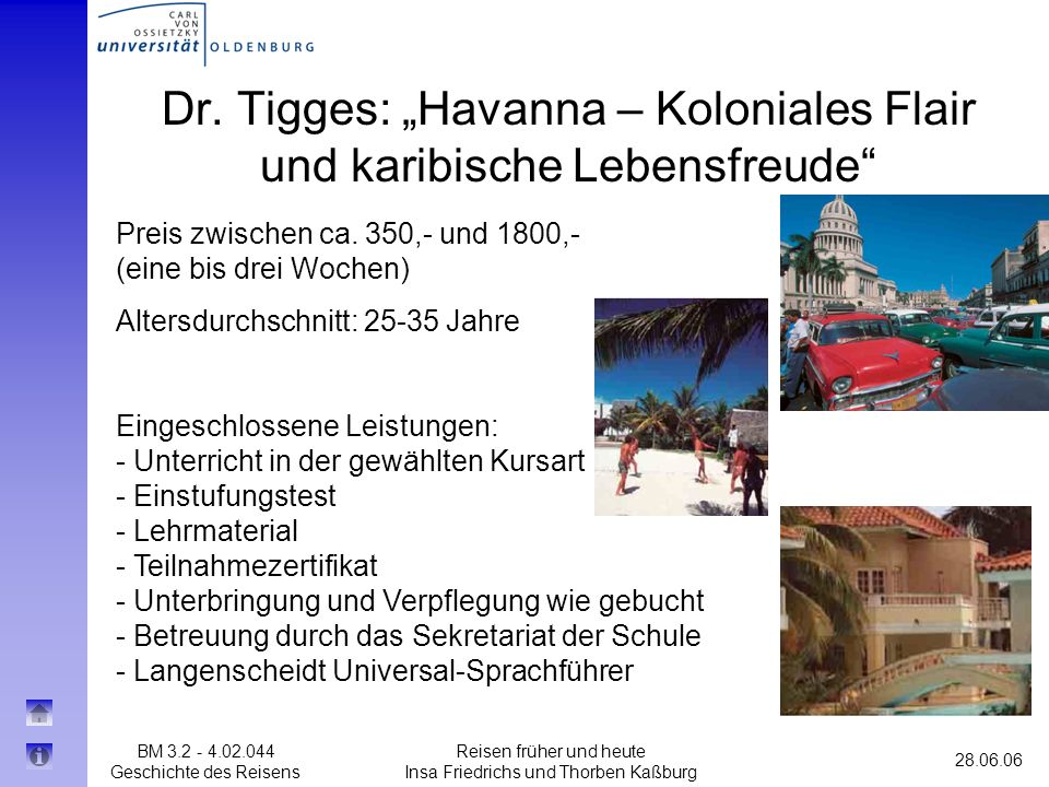 """Dr. Tigges: """"Havanna – Koloniales Flair und karibische Lebensfreude"""