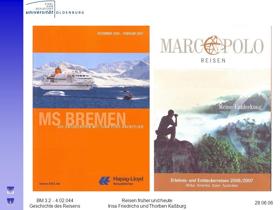 Reisen früher und heute Insa Friedrichs und Thorben Kaßburg