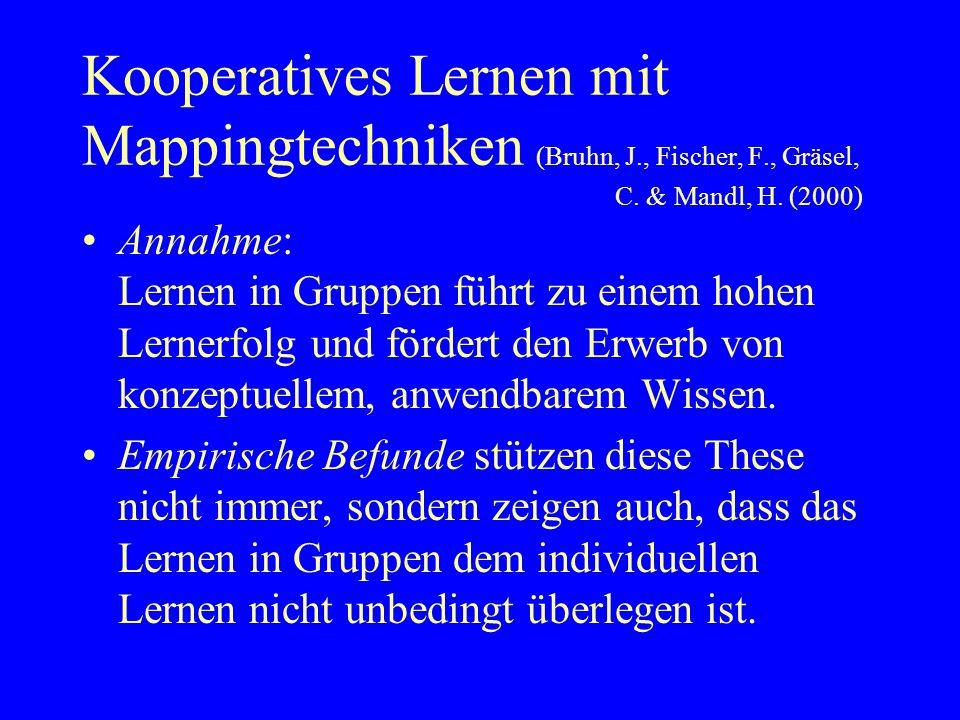 Kooperatives Lernen mit Mappingtechniken (Bruhn, J. , Fischer, F