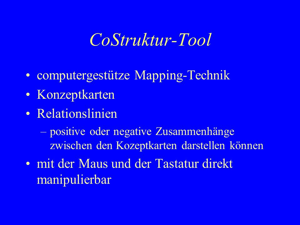 CoStruktur-Tool computergestütze Mapping-Technik Konzeptkarten