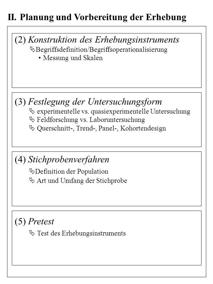 II. Planung und Vorbereitung der Erhebung