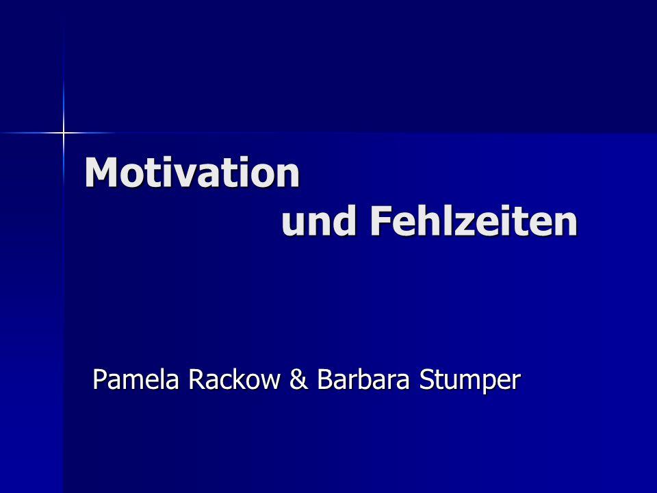 Motivation und Fehlzeiten