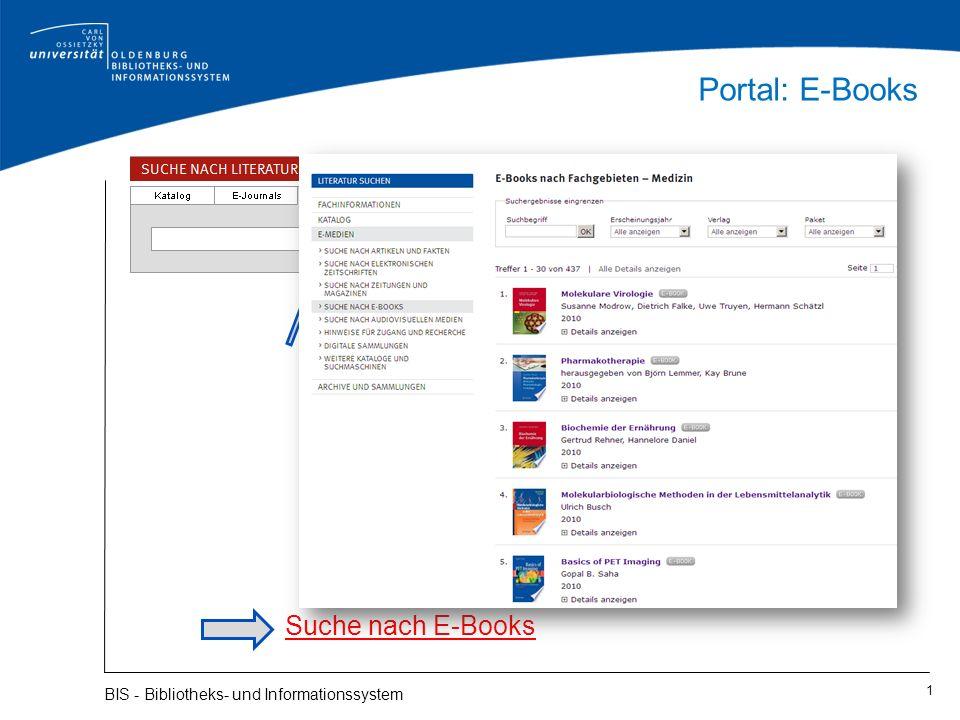 Portal: E-Books Suche nach E-Books