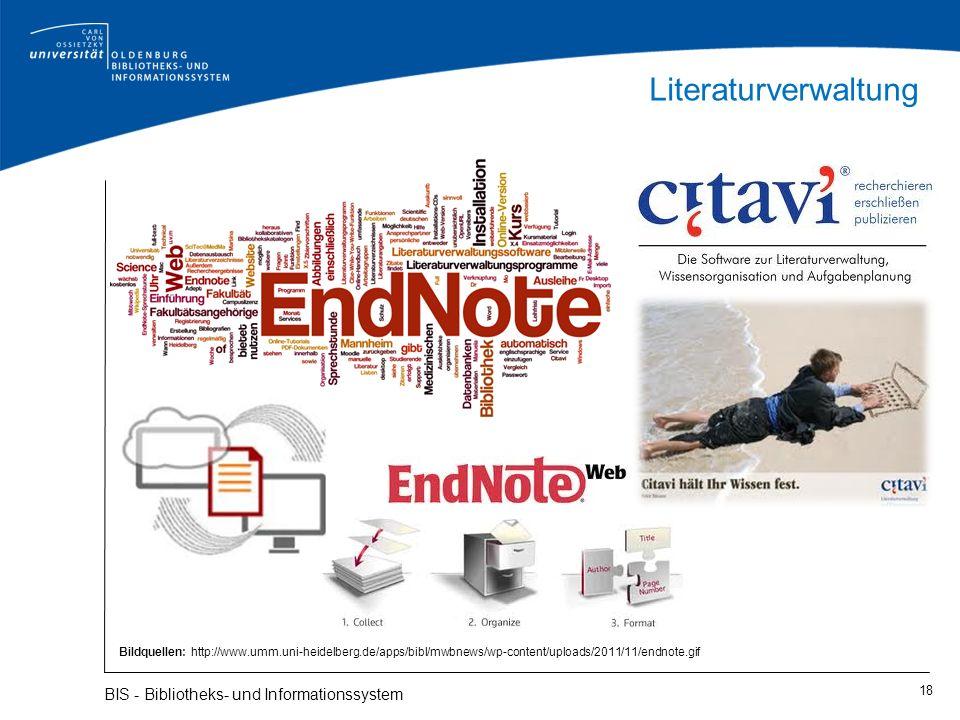 Literaturverwaltung BIS - Bibliotheks- und Informationssystem