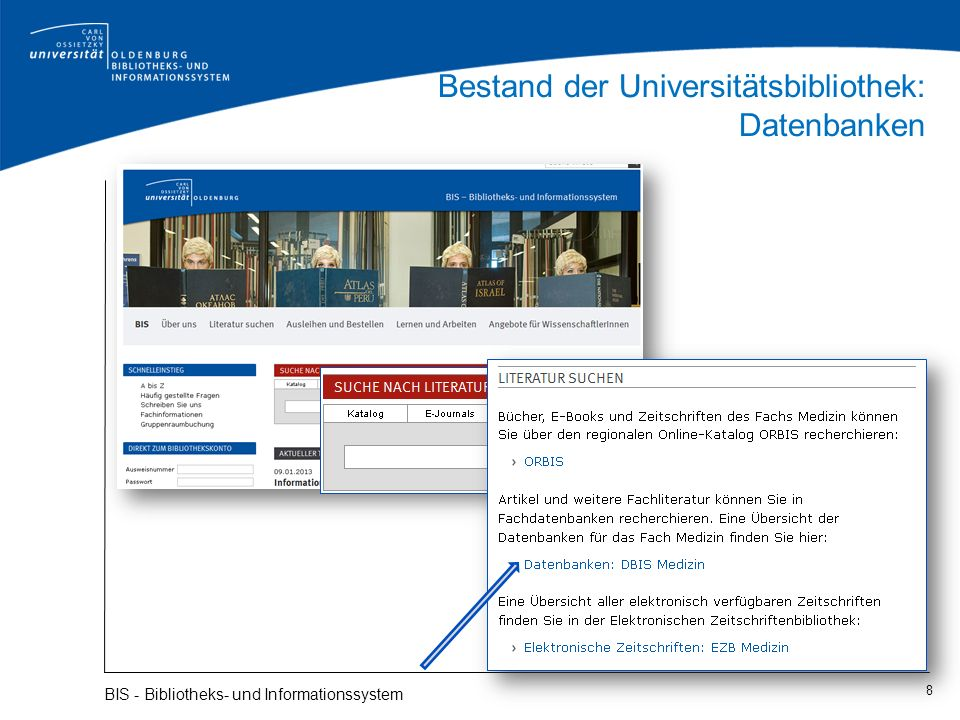 Bestand der Universitätsbibliothek: Datenbanken
