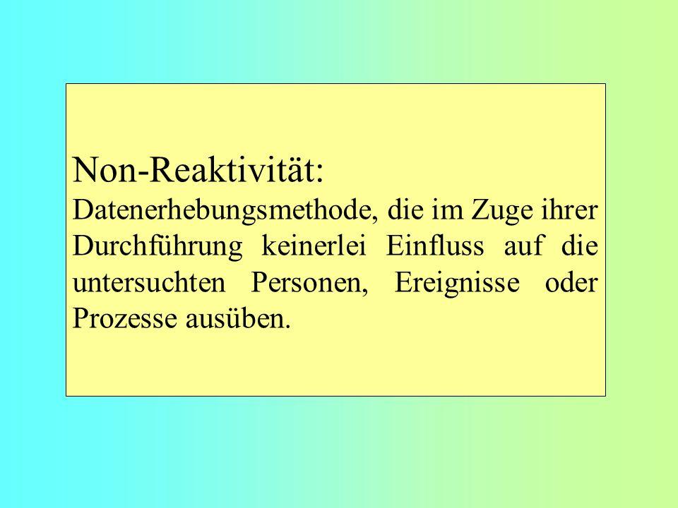 Non-Reaktivität: