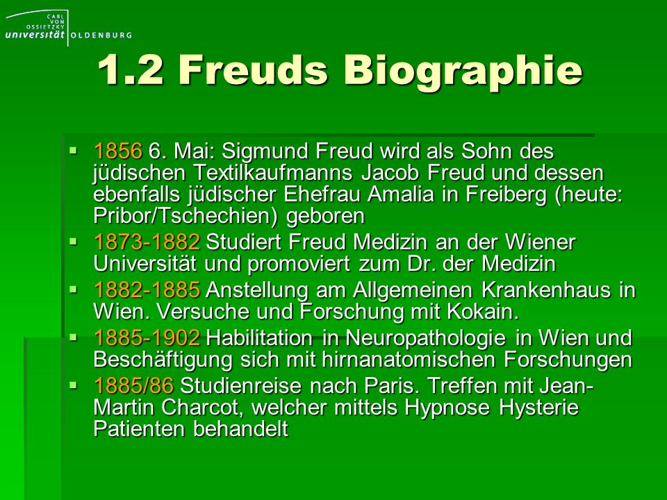 1.2 Freuds Biographie