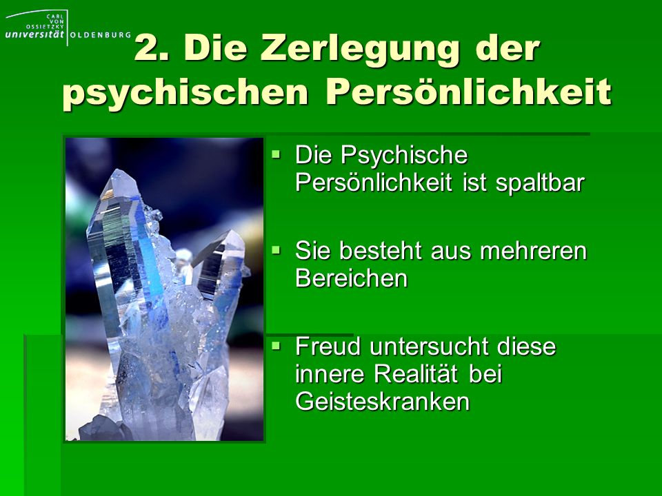 2. Die Zerlegung der psychischen Persönlichkeit