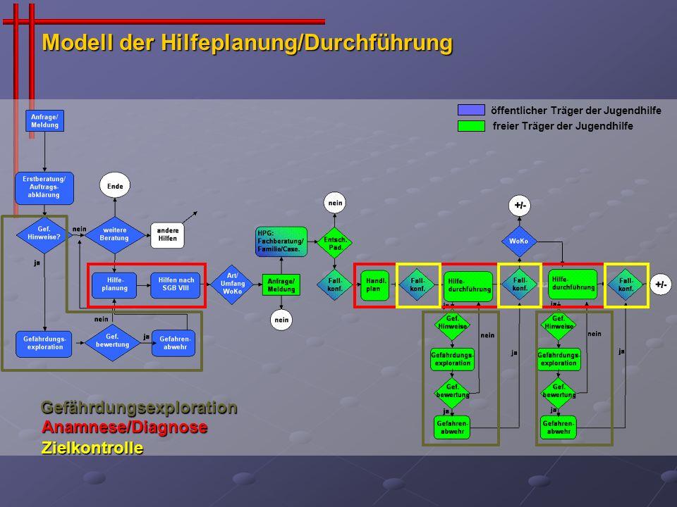Modell der Hilfeplanung/Durchführung
